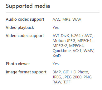 hdx1000 supported format