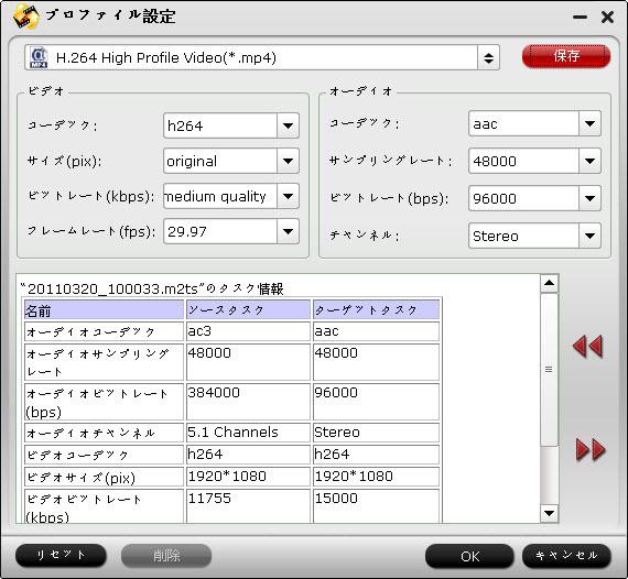MTS/M2TS FLV変換